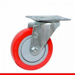 Càng bánh xe B đế đỏ không khóa B100U20