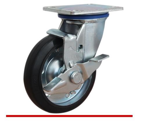 Sản phẩm Càng bánh xe M di động có khóa bánh đặc M100CT