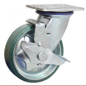 Sản phẩm Càng bánh xe di động có khóa bánh nhựa PU M200CT