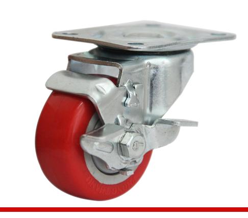 Càng bánh xe B đế đỏ có khóa B65U21L