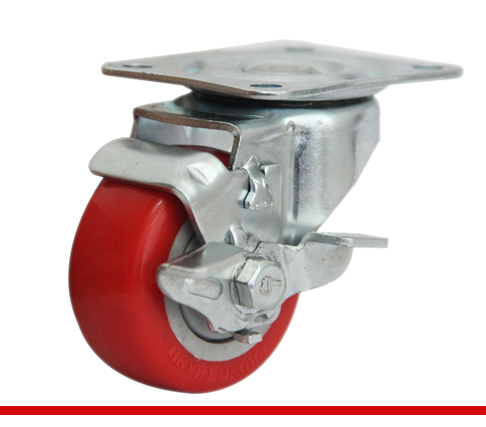Càng bánh xe B đế đỏ có khóa B75U21L