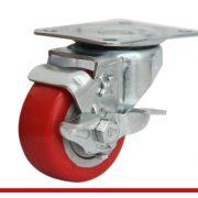 Càng bánh xe B đế đỏ có khóa B100U21L