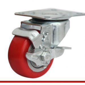 Càng bánh xe B đế đỏ có khóa B50U21L