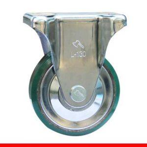 Sản phẩm Càng bánh xe L cố định, Bánh xe nhựa PU, nòng gang L200CPUG