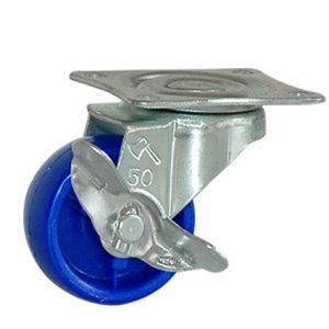 Càng Bánh Xe đế xanh có khóa B50P21