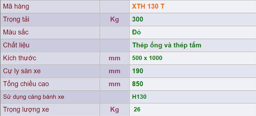 thông số lỹ thuật xth 130 t